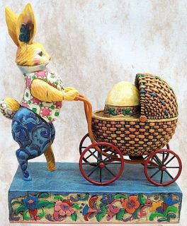 Jim Shore Honey Bunny Basket Easter Eggs Enesco 4023994