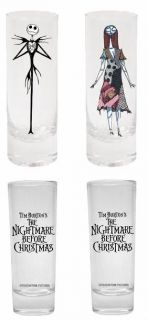 Nightmare Before Christmas Jack Sally Shot Glasses