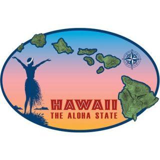 Hawaiian Island Chain Sticker Decal from Hawaii