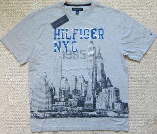 Tommy Hilfiger Grey New York City  T Shirt Mens Size XL 2XL $34 50