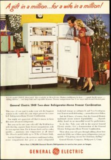 Print Ad GENERAL ELECTRIC 2 door refrigerator freezer home combination