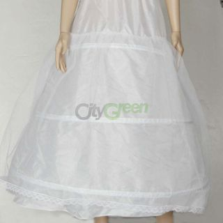 New Top Quality 3 Hoops Wedding Bridal Gown Dress Super Full Petticoat