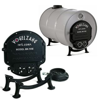 Deluxe Barrel Stove Kit Yard Wood Burning Stove Transformer All Cast