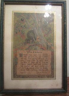 Motto Print Vintage Frame to dad Poem Original poetry L Hawthorne