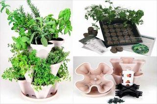 Hanging Stackable Planter Pot Culinary Herb Garden Kit