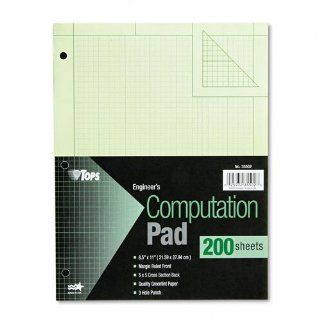 TOPS  Engineering Computation Pad, Quadrille Rule, Letter