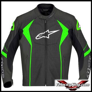 Perforated Mens Leather Motorcycle Riding Jacket All Sizes Size