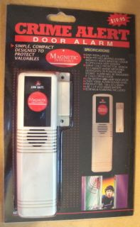 Crime Alert Door Alarm   Home Security   Battery Operated   Magnetic