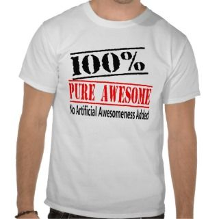 100 percent Awesome Tee Shirt