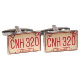 Dukes Hazzard General Lee Car Plates Cufflinks BNIB