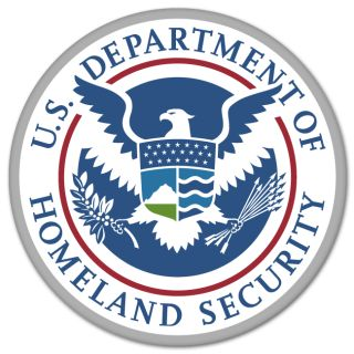 Homeland Security Car Bumper Sticker Decal 4 x 4