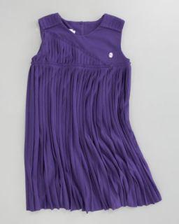 Z0XQ8 Baby Dior Pleated Jersey Dress, Sizes 2 4