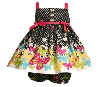 Bonnie Jean Baby/Infant Girls 3M 9M 2 Piece BLACK WHITE