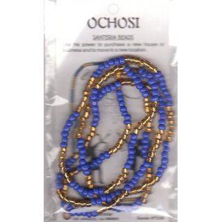 OCHOSI SANTERIA GOLD & BLUE BEAD BRACELET   Blue / Gold