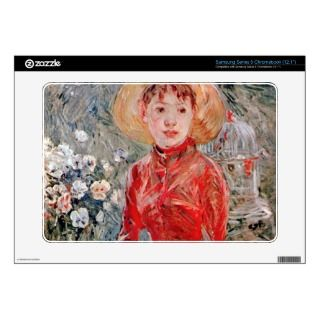 Young girl with cage by Berthe Morisot Samsung Chromebook Decals