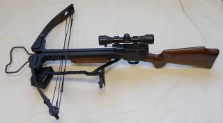 Horton Stalker Compound Crossbow w Simmons 4x32 Power Shotgun Scope
