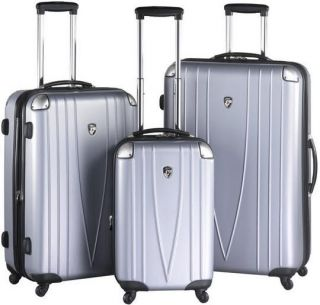 Heys USA 4WD Metallica Expandable Luggage Set Silver