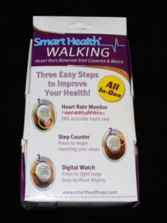 Smart Health Heart Rate Monitor Pedometer Watch Step Counter Mid Size