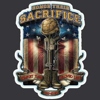HONOR THEIR SACRIFICE USA ARMY MILITARY MINI VINYL STICKER DECAL