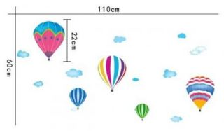 Hot Air Balloons Mural Wall Paper Sticker Decor Wall Paper Decal