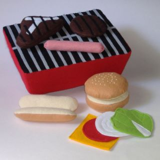 Pattern for Grill Burger Hot Dog Steak Felt Play Food