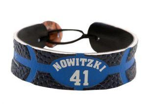 Dirk Nowitzki Team Color NBA Basketball Jersey Bracelet