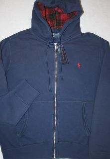 Ralph Lauren Size Large Weathered Full Zip Fleece Hoodie Mens L