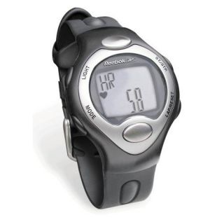 Reebok Strapless Series Silver Heart Rate Monitor Watch