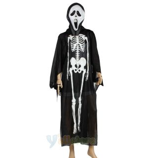 Hot Ghost Scream Movie Ghost Face Cloak Scary Adult Halloween Costume