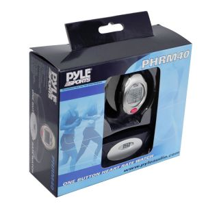 pyle phrm40 one button heart rate monitor sports watch w transmitter