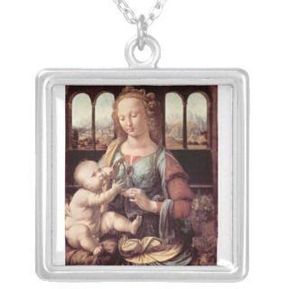 Leonardo da Vinci   Madonna with the Carnation Pendant