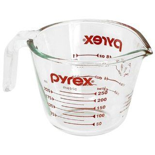 Pyrex Prepware 1 Cup Measuring Cup, Clear with Red