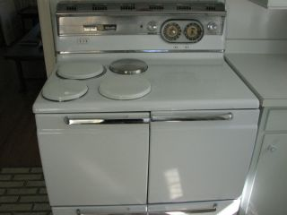 Vintage GE Hotpoint Electric Range Stove Oven 1950s Good Condition