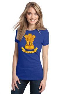 INDIAN NATIONAL EMBLEM Ladies T shirt / Ashoka Lion at