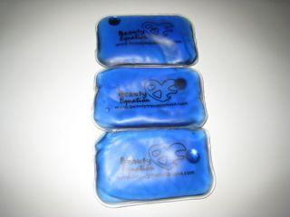 BLUE Reusable Heat Gel Packs Hand Warmer Pads Bags 4 x 6 10cm x 15cm