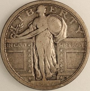 1917 25c Type 1 Standing Liberty Quarter Uncertified