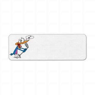 crazy singing karaoke bird cartoon return address labels
