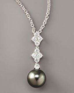 O5047 MIKIMOTO Black Pearl Pendant Necklace