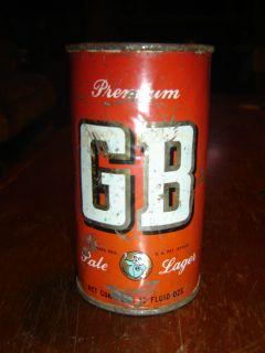 Premium GB Grace Bros Pale Santa Rosa CA Keglined Empty Flat Top Beer