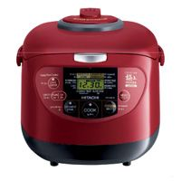 Hitachi Rice Cooker RZ XM18Y Red Warmer Steamer 10 Cups 220 240V Japan