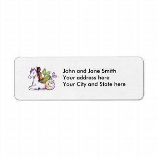 American Indian Mermaid and merhorse Custom Return Address Label
