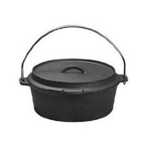 Universal Housewares Pre Seasoned Cast Iron Camping Campfire Dutch