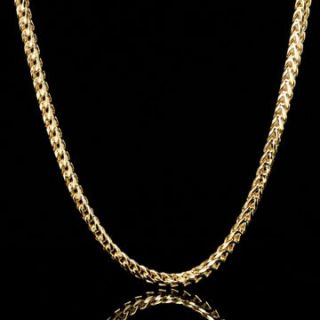 36 4mm Mens Solid 14K Yellow Gold Plated Franco Chain Jewelry