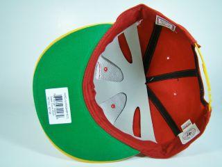 Houston Rockets Snapback Hat Red Jumbo Scribe Logo Scola Martin 47