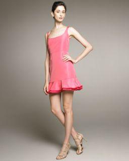 RED Valentino Ruffle Bottom Gingham Dress