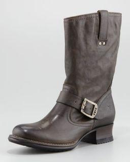 Frye Deborah Short Python Boot   Neiman Marcus