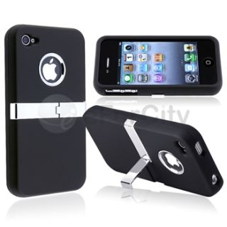 Chrome Stand Hard Case Cover Skin for iPhone 4S 4G 4GS Verizon