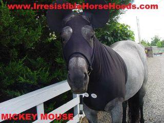 MOUSE HORSE COSTUME, EARS & TAIL BAG Horse Hood SLINKY TAIL BAG * X S