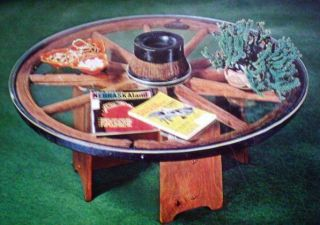 How to Build OLD WOODEN SPOKE WAGON WHEEL RUSTIC COUNTRY COFFEE TABLE