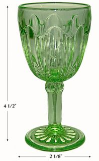 hocking green colonial 4 1 2 wine goblet